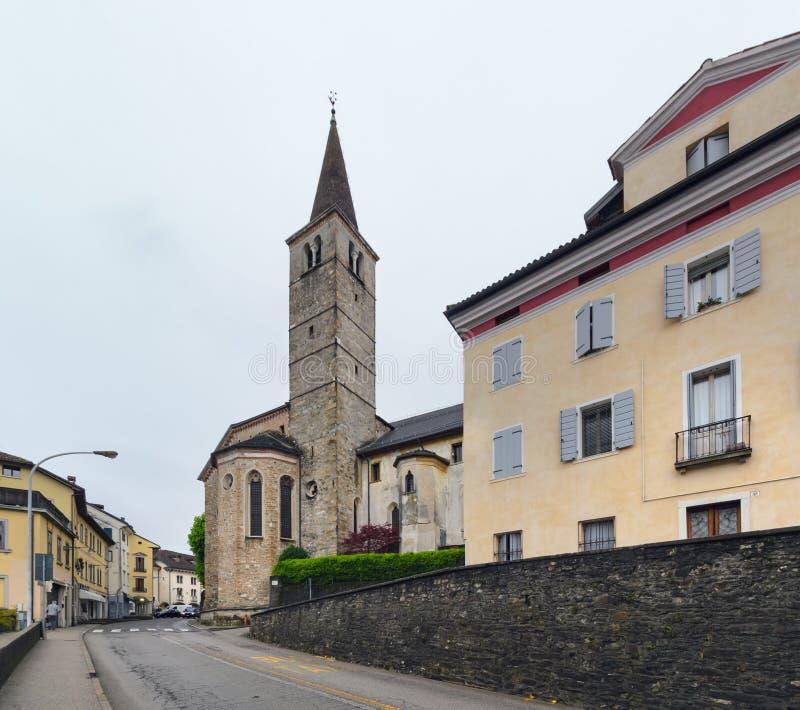 Kyrkan i mitten av Belluno arkivfoton