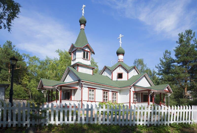 Kyrkan i Pitkyaratna Karelia royaltyfri bild
