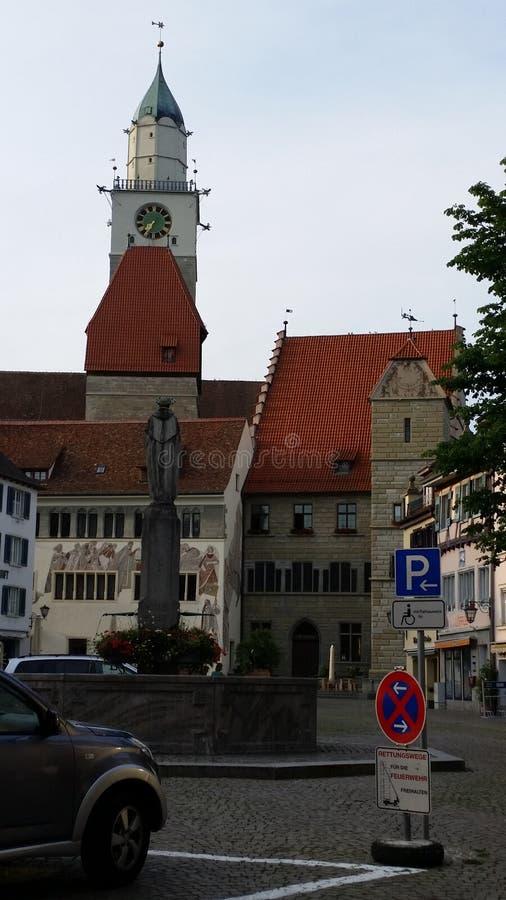 Kyrkan i Ueberlingen royaltyfri foto