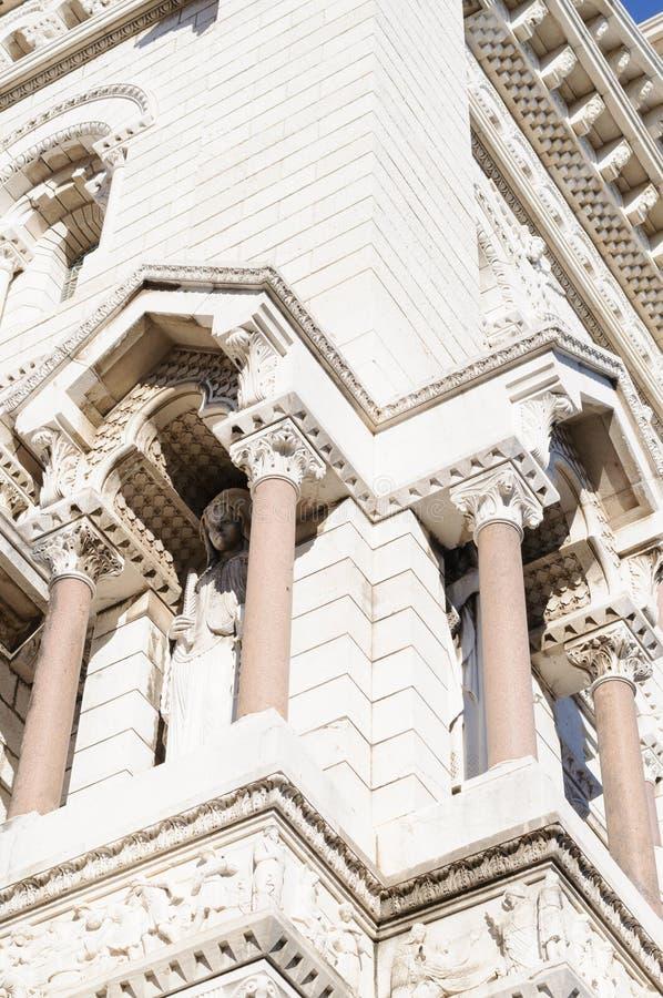 Kyrkan tilldelad till Saint Nicolas, den Monaco domkyrkan är en mäktig monument royaltyfri foto