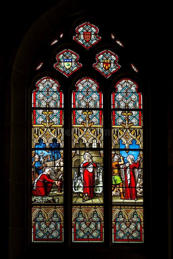 Kyrkas fönster royaltyfri foto