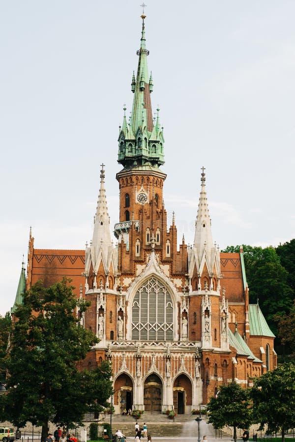 Kyrklig arkitektur av Cracow, Polen arkivbild