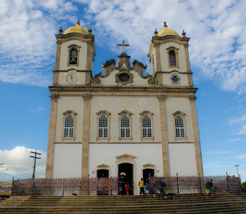Kyrklig arkitektur Pelourinho Salvador Brazil royaltyfri foto