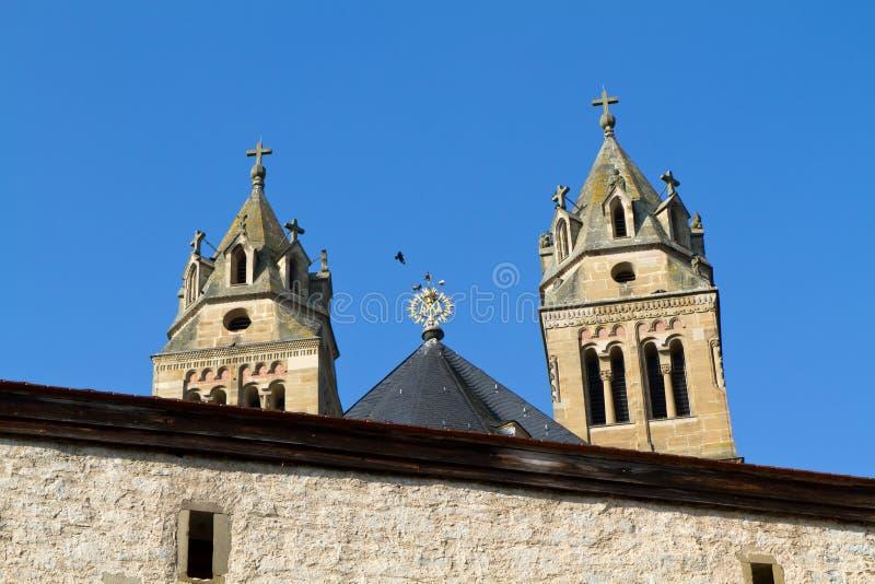 kyrklig comburg för slott inom nikolaus st arkivbild
