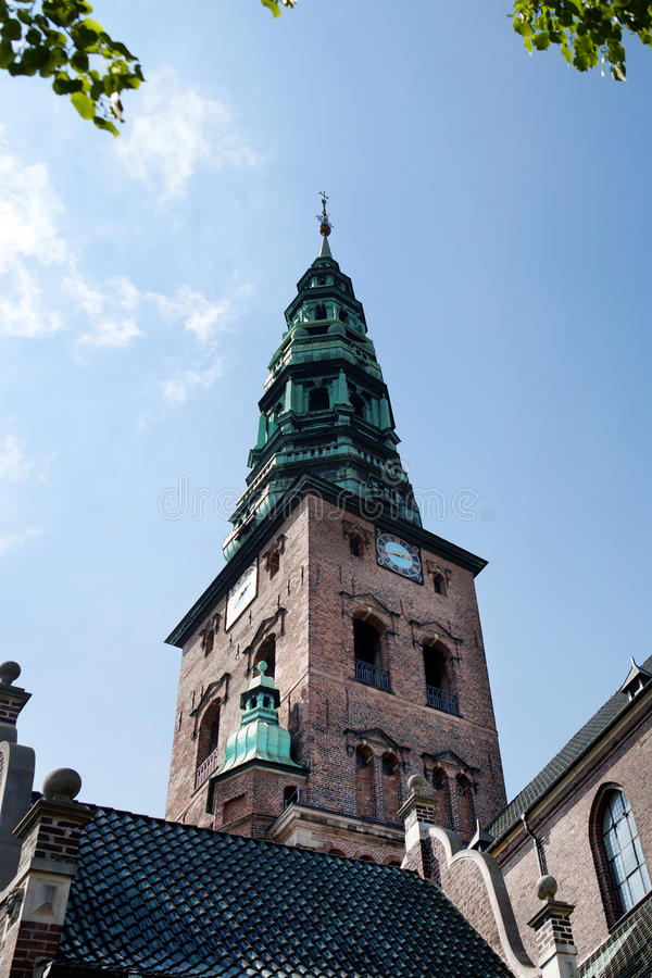 Kyrklig copenhagen Nikolaj huvudstad Danmark arkivfoton