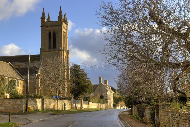 kyrklig cotswold england royaltyfri fotografi