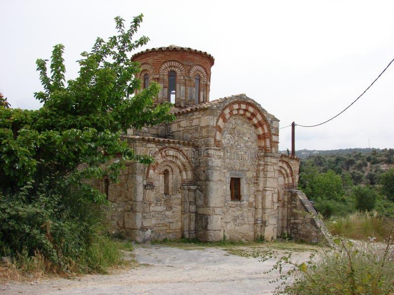 kyrklig crete dimitry st arkivbild