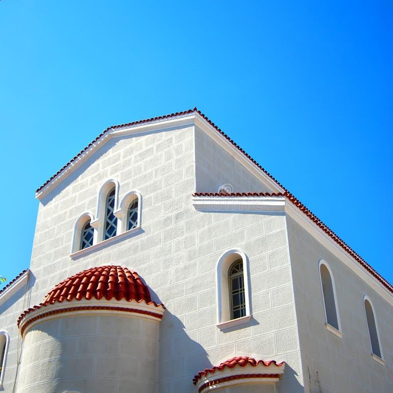 kyrklig crete white för 05 royaltyfri bild