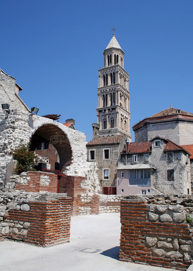 kyrklig croatia gammal split arkivbild