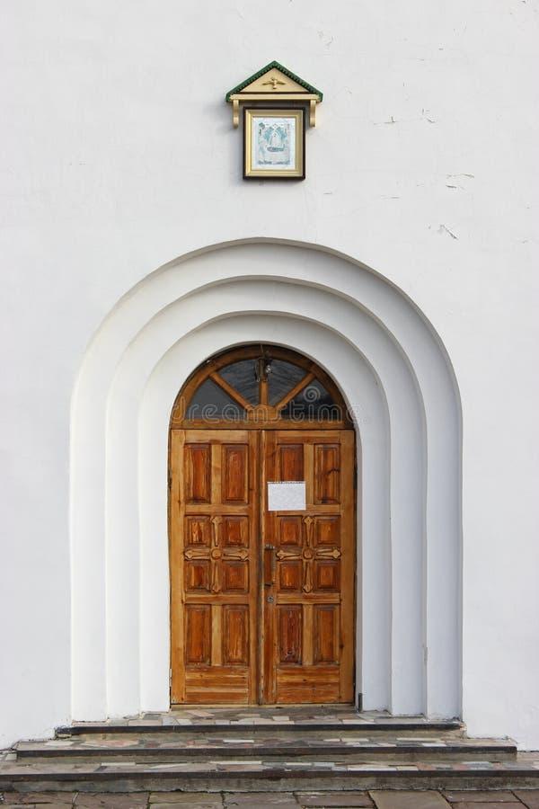 Kyrklig dörr för ortodox arkivfoto