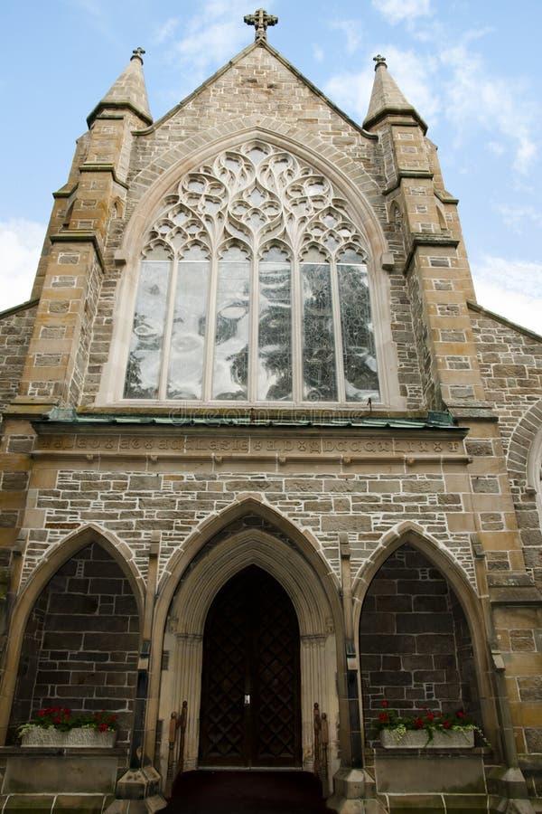 Kyrklig domkyrka för Kristus - Fredericton - Kanada royaltyfria foton