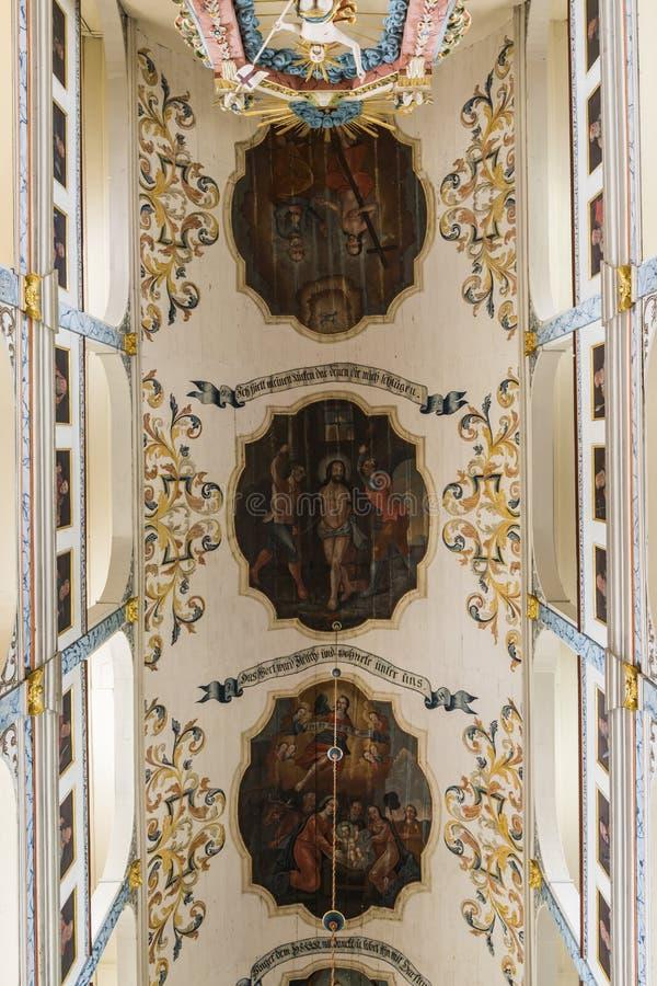 Kyrklig Dornburg för tak Tyskland royaltyfria foton