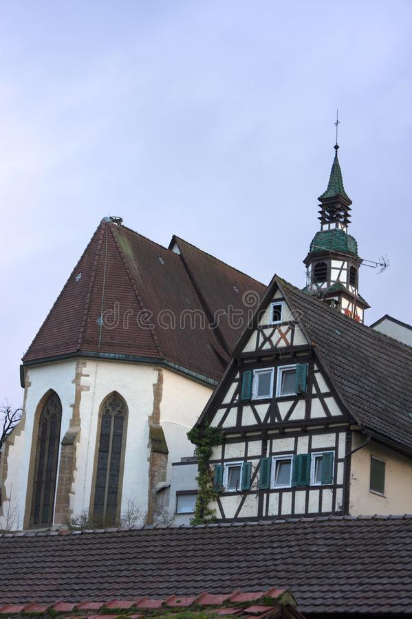 Kyrklig duett - II - Waiblingen - Tyskland royaltyfria bilder