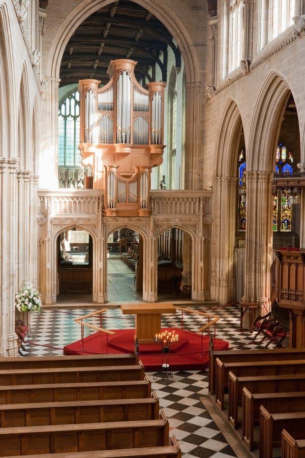 Kyrklig England Interior Oxford Arkivfoto