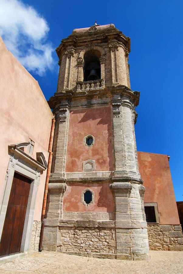 kyrklig ericegiuliano sicily st arkivbilder