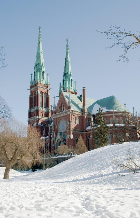 kyrklig finland helsinki john s st royaltyfria foton