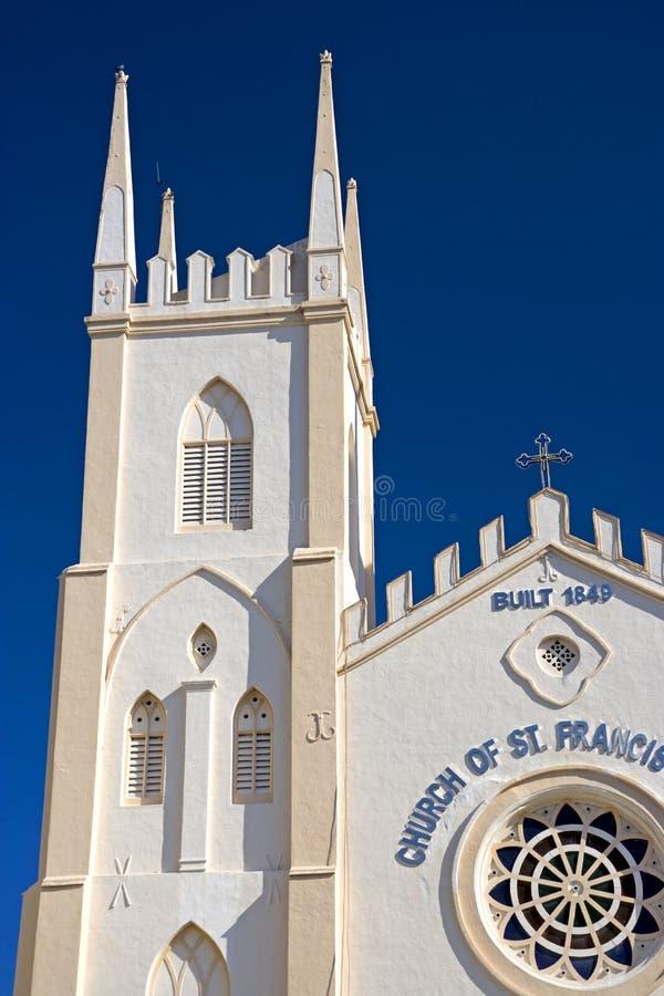 kyrklig francis malacca s st xavier arkivbild