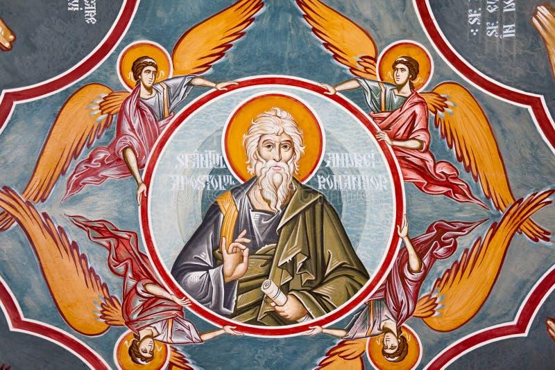 kyrklig fresco arkivbilder