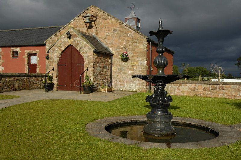 kyrklig grön gretna scotland royaltyfria foton