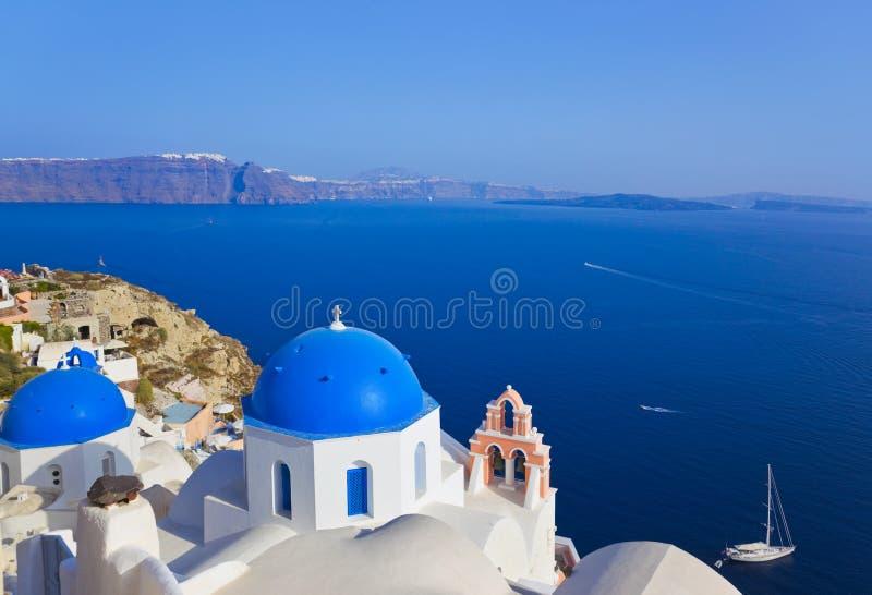 Download Kyrklig Greece Oia Santorini Arkivfoto - Bild av cafe, greece: 19790308