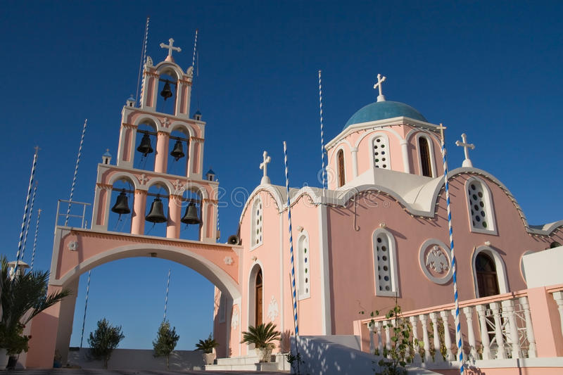 kyrklig grekisk pink royaltyfri fotografi