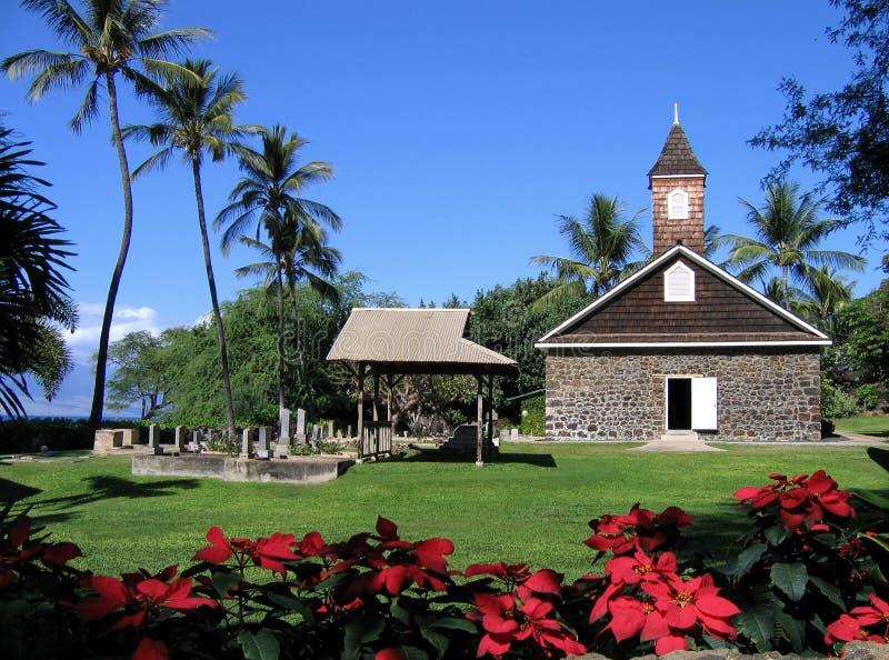 kyrklig hawaii makena maui arkivbild
