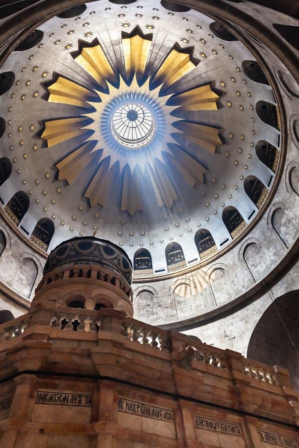 kyrklig helig sepulcher Taket över Kristusgrav fotografering för bildbyråer