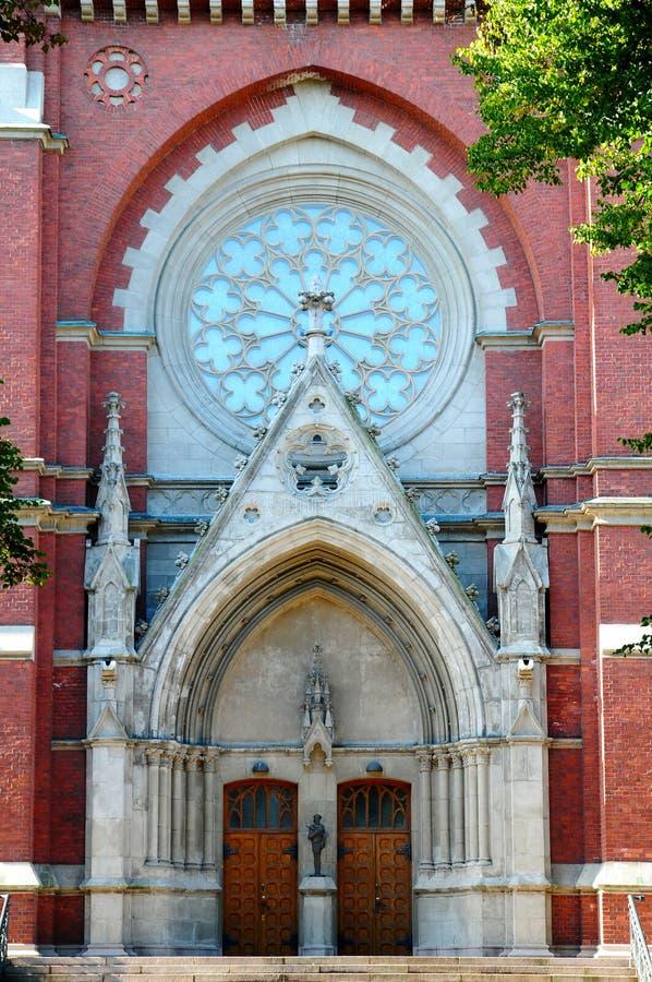 kyrklig helsinki portal royaltyfri bild