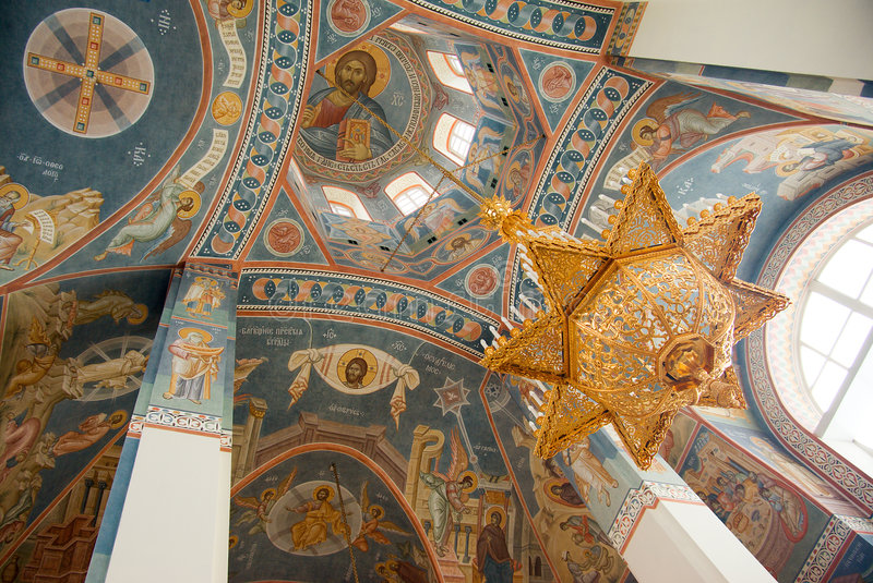 kyrklig inre ortodox ryss royaltyfria bilder