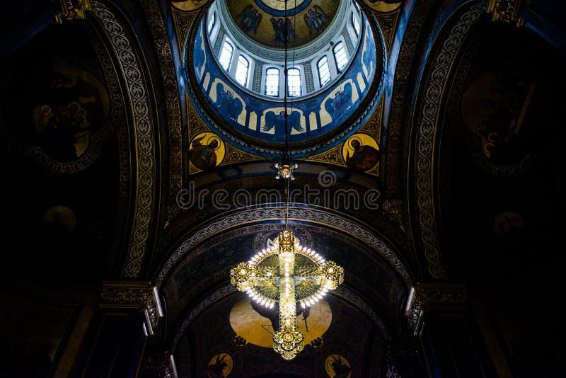 kyrklig interior arkivfoton
