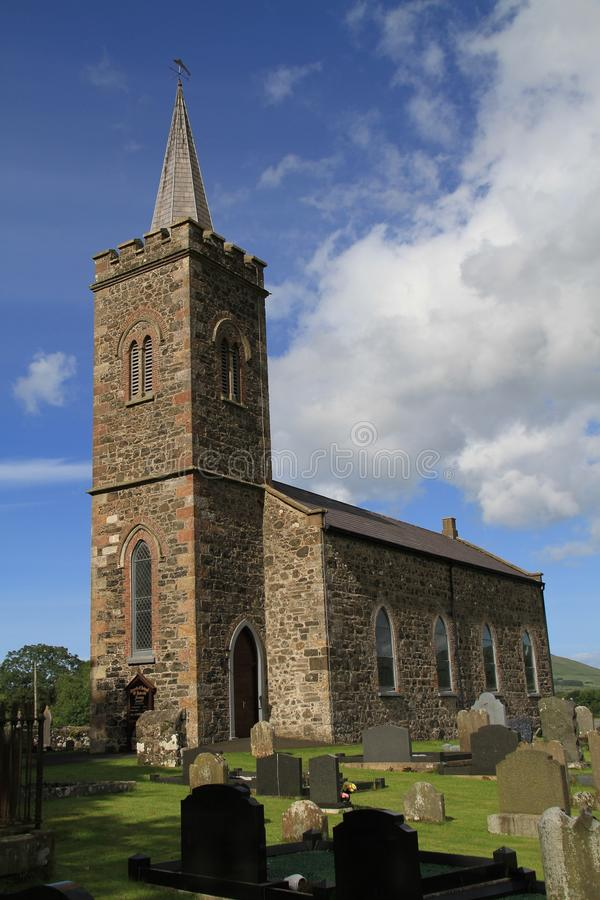 kyrklig irländsk by royaltyfria bilder