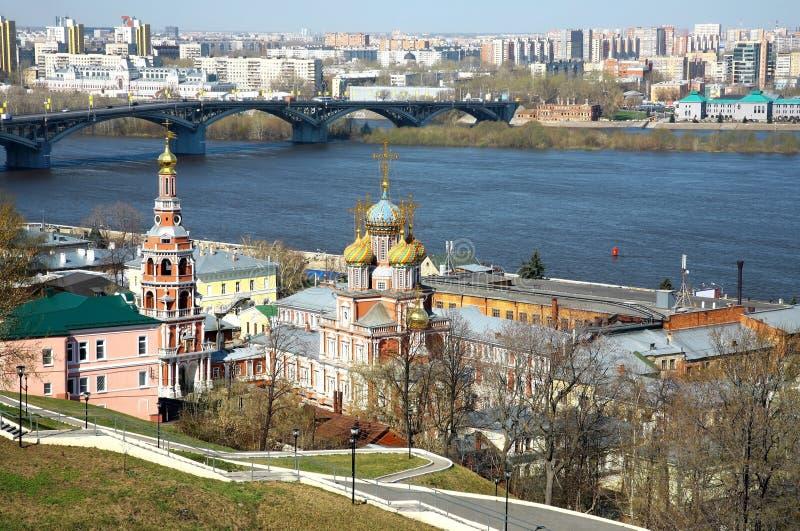 Kyrklig Kristi födelse av mest helig modergud Nizhny Novgorod royaltyfria foton