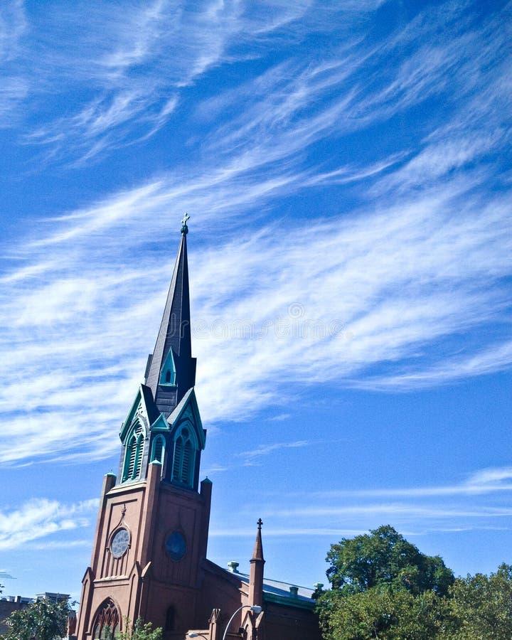 Kyrklig kyrktorn i Brooklyn fotografering för bildbyråer
