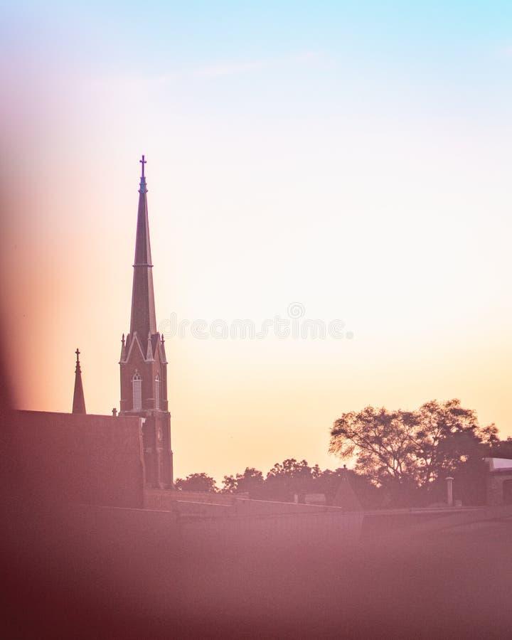 kyrklig kyrktorn royaltyfria foton