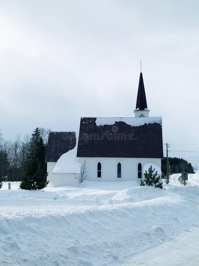 kyrklig landsvinter arkivbilder