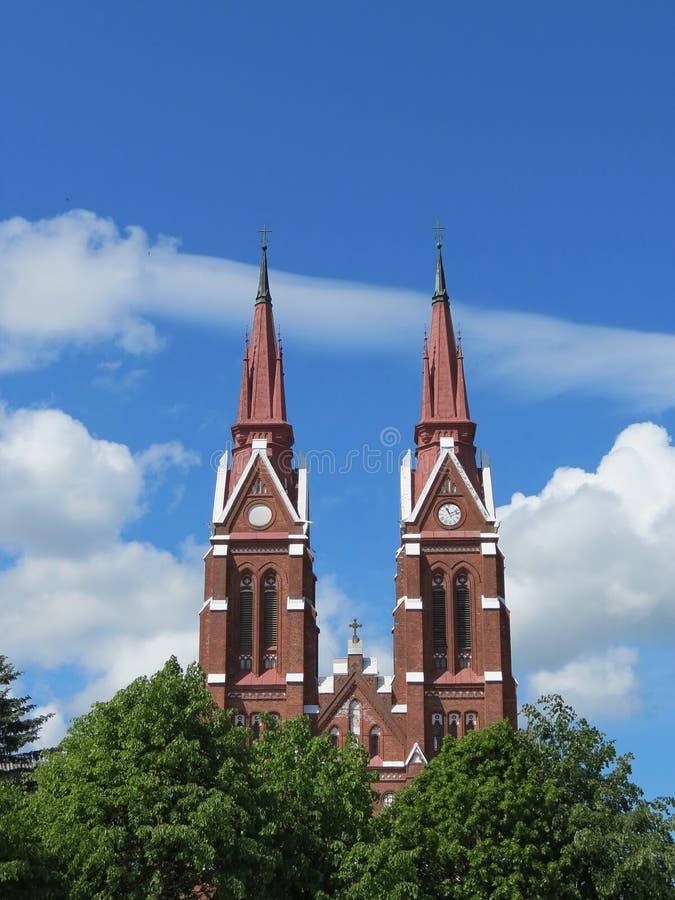 kyrklig lithuania sveksna fotografering för bildbyråer