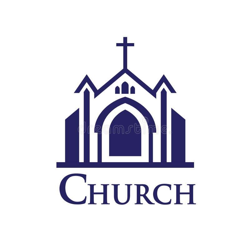 kyrklig logo royaltyfri illustrationer