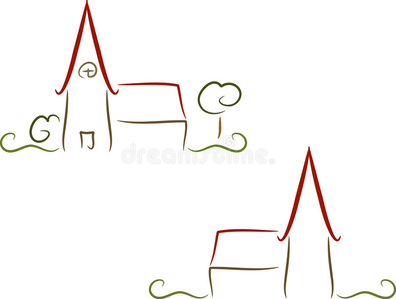 kyrklig logo vektor illustrationer