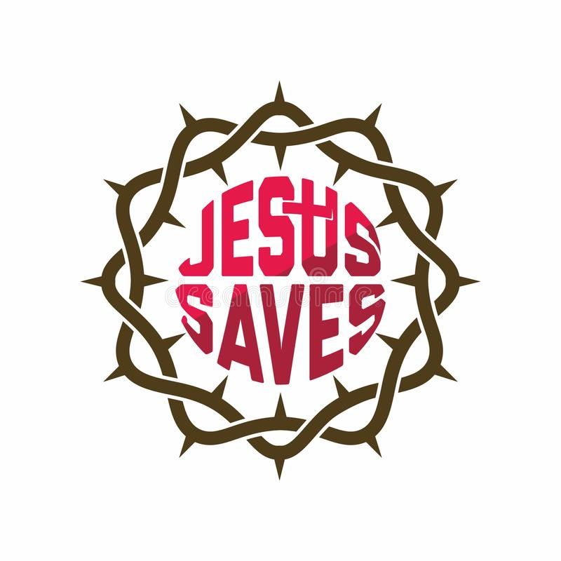 Kyrklig logo Kristna symboler värld för taggar för stjärna för hav andra för rov för polyps för planci för acanthasterkorallkrona vektor illustrationer