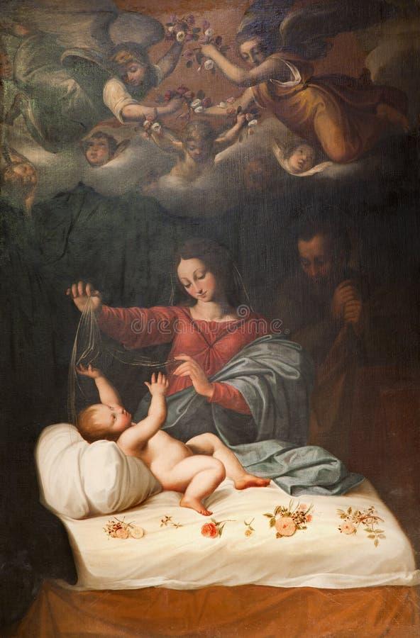 kyrklig luigi nativity rome san royaltyfri fotografi