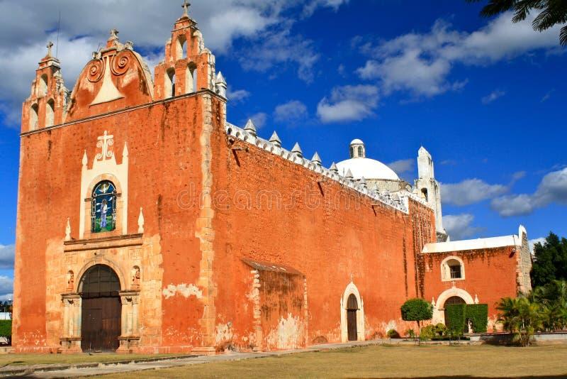 kyrklig mayan mexico ticul yucatan arkivfoto