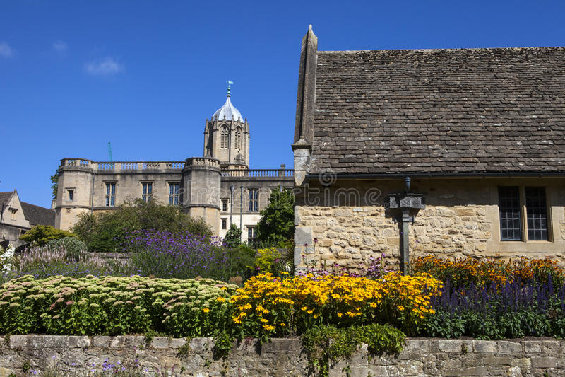 Kyrklig minnesmärketrädgård för Kristus i Oxford fotografering för bildbyråer