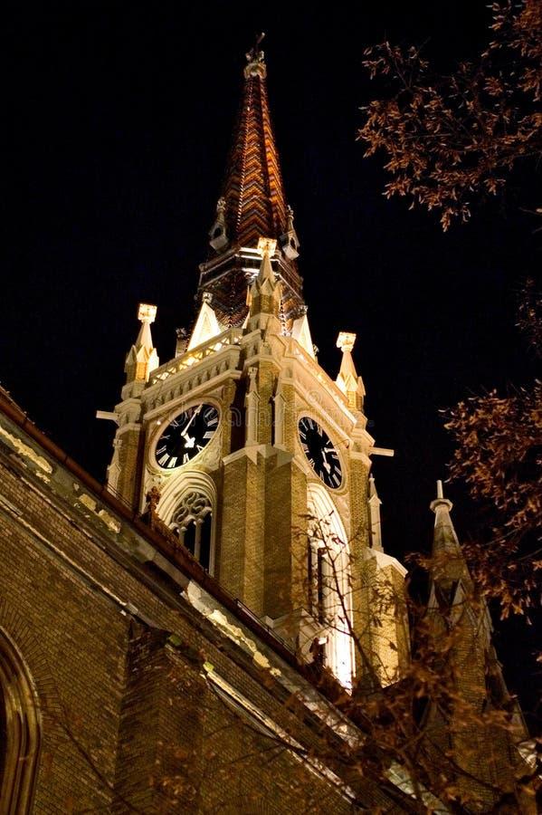 kyrklig natt fotografering för bildbyråer