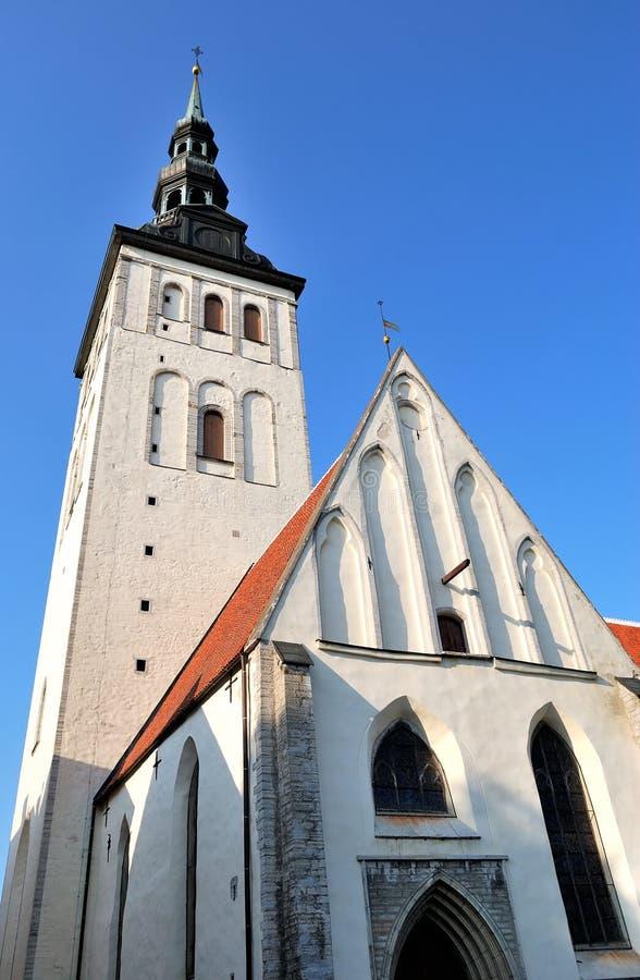 kyrklig nicholas st tallinn royaltyfri fotografi