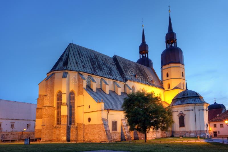 kyrklig nicolas saintslovakia trnava royaltyfri fotografi