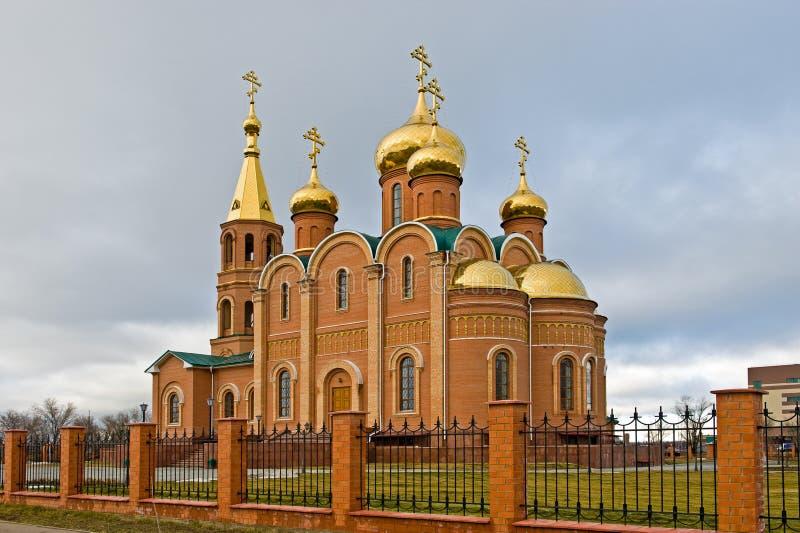 kyrklig ortodox ryss för aktobe royaltyfri fotografi