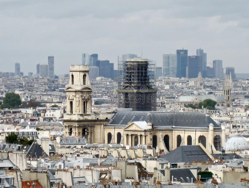 kyrklig paris saintsulpice arkivfoto