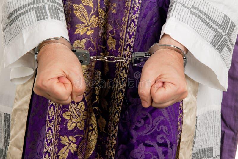 kyrklig pastor för missbruk arkivbild