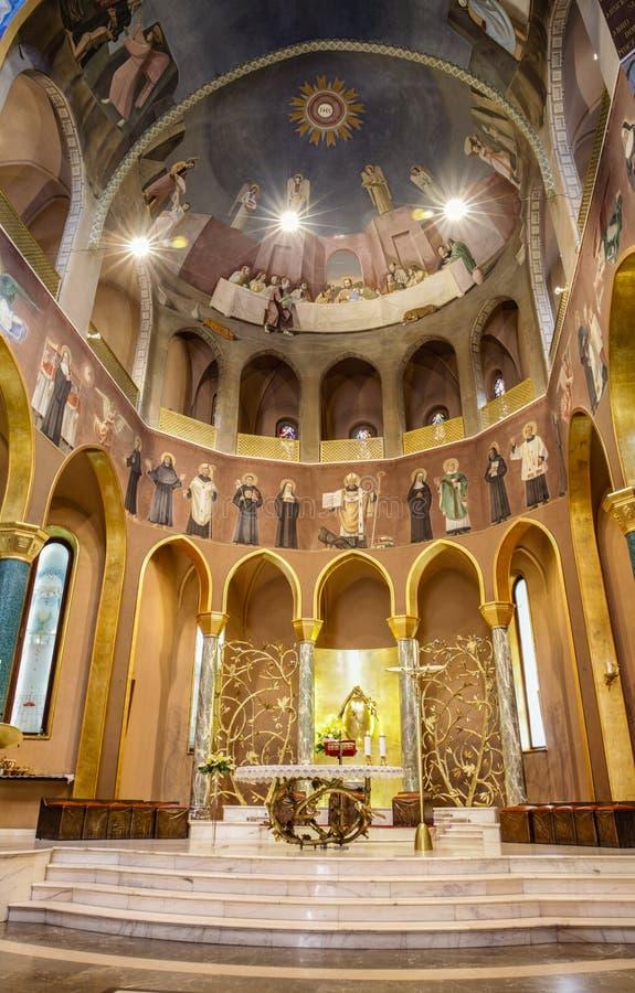 Kyrklig santa rita da för altare cascia Cascia Italien royaltyfria foton