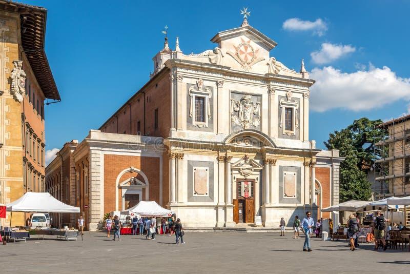 Kyrklig Santo Stefano dei Cavalieri i Pisa royaltyfri bild